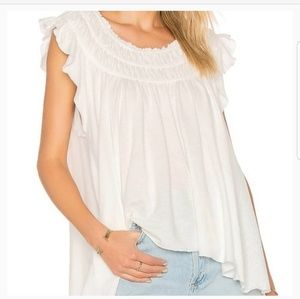 NWT. Free People ♡ Coconit Blouse Ivory